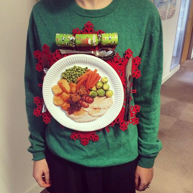 Best ideas about DIY Christmas Jumper . Save or Pin Made Christmas dinner jumper DIY Now.