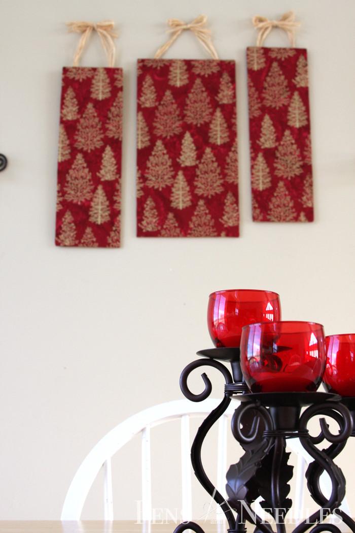 DIY Christmas Wall Decor  Pens and Needles DIY Christmas Wall Art