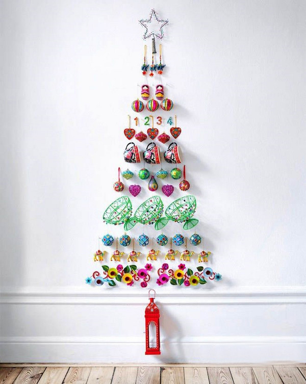 DIY Christmas Wall Decor  11 Awesome And Unique Christmas Tree Ideas For This Year