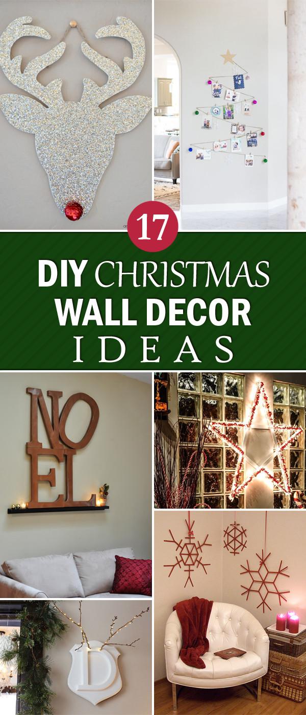 DIY Christmas Wall Decor  17 Creative DIY Christmas Wall Decor Ideas