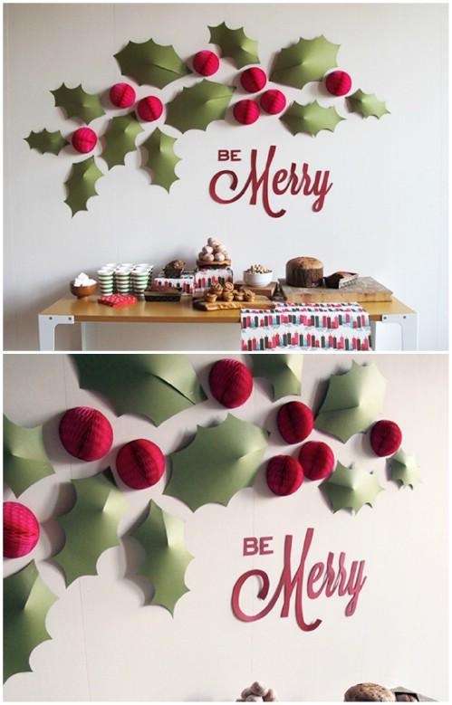 DIY Christmas Wall Decor  20 Magical DIY Christmas Home Decorations You ll Want