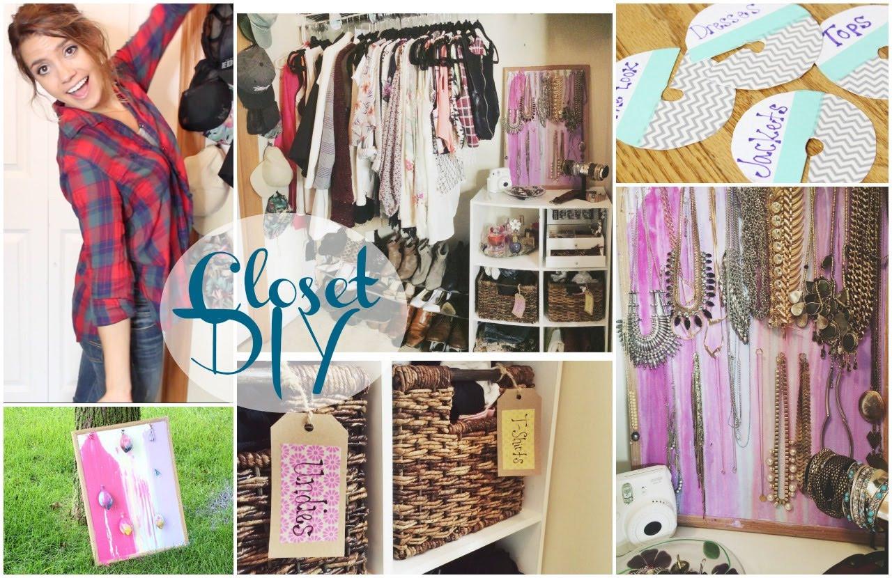 DIY Closet Organizer Ideas  DIY Closet Organization