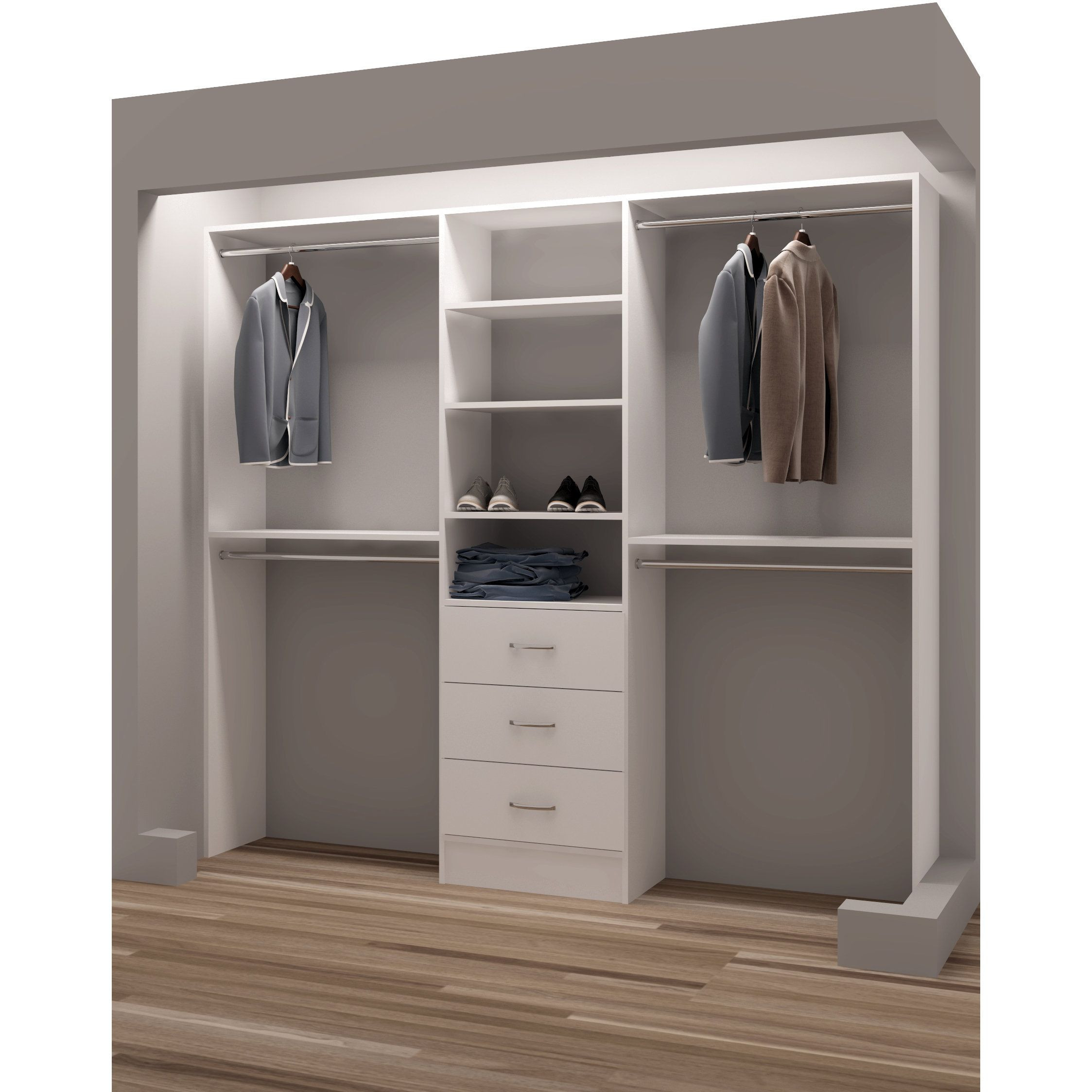 DIY Closet Organizers  White Wooden Closet Organizers Rubbermaid Organizer Wood