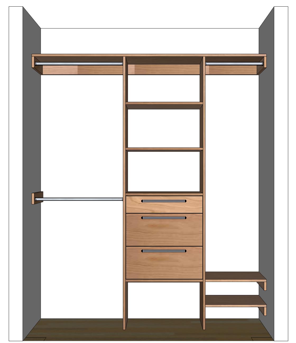 DIY Closet Organizers  DIY Closet Organizer Plans For 5 to 8 Closet