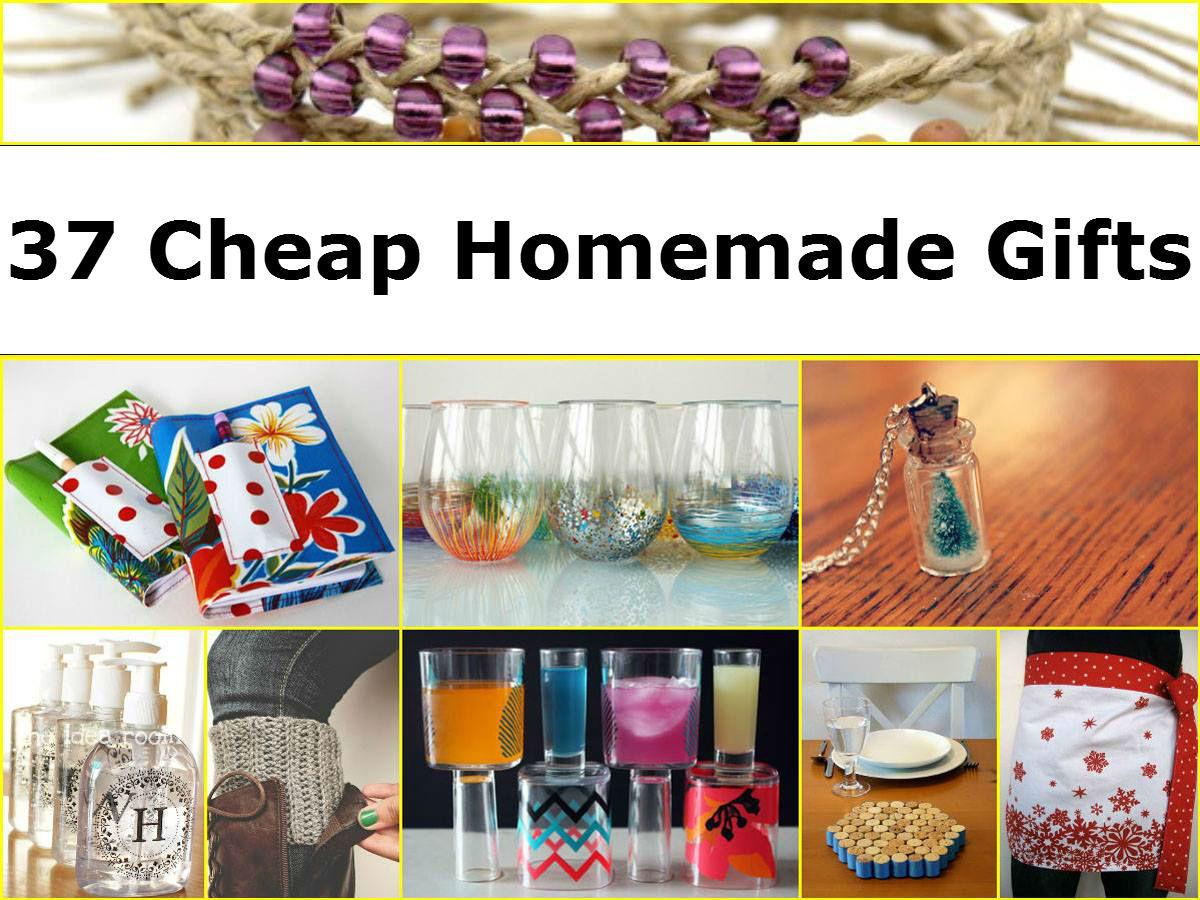 Best ideas about Diy Couples Gift Ideas . Save or Pin 37 Cheap Homemade Gifts Now.