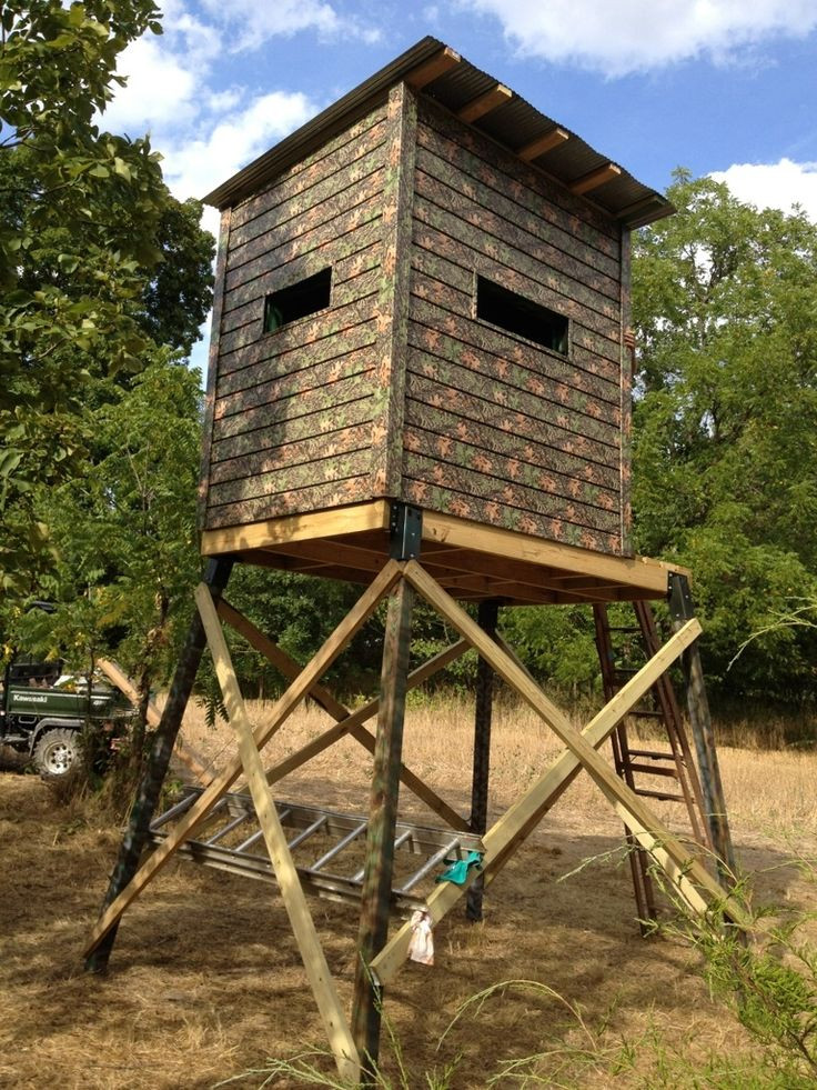 Best ideas about DIY Deer Blinds . Save or Pin DIY Hunting Blind Bing images Now.