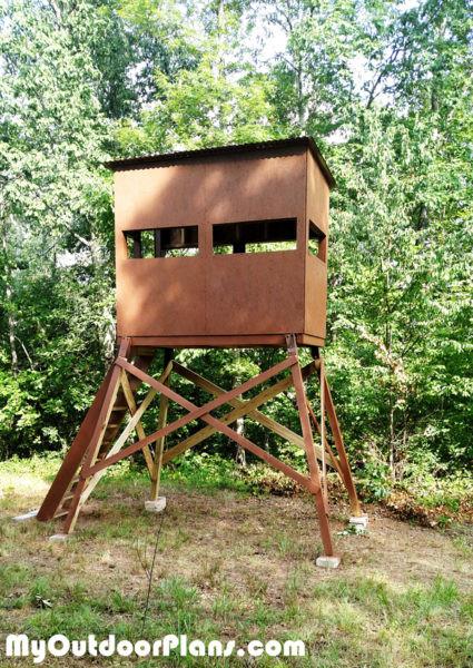 DIY Deer Stands Plans  DIY Deer Shooting Blind MyOutdoorPlans