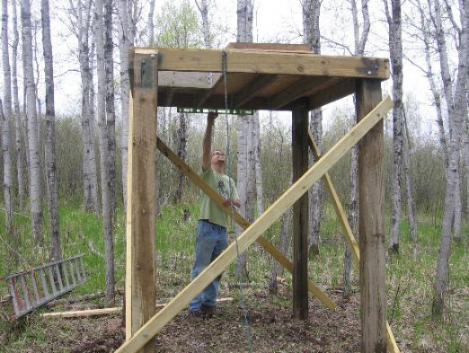 DIY Deer Stands Plans  elevated deer hunting blinds Yahoo Image Search Results