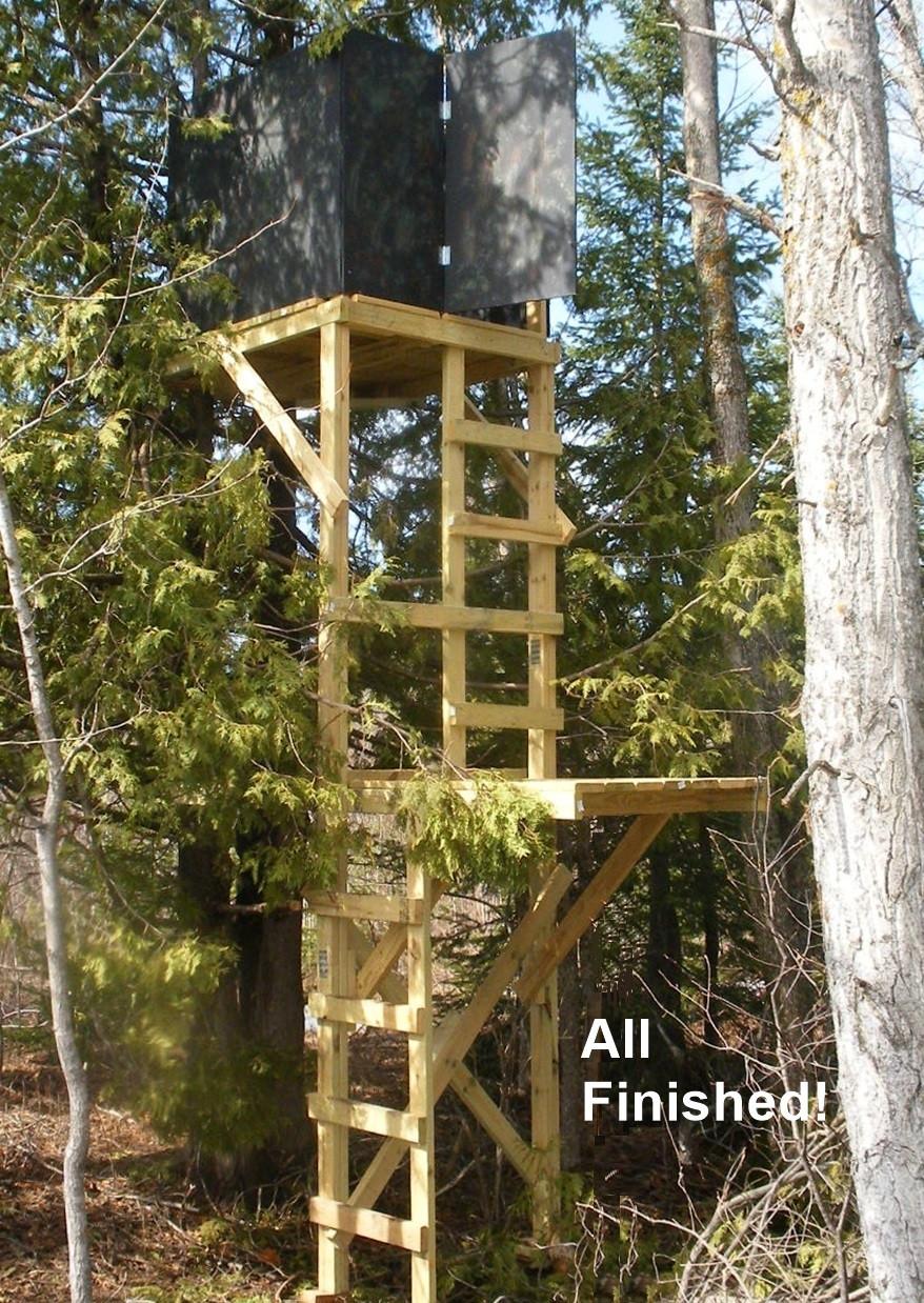 DIY Deer Stands Plans  Free Deer Stand Building Plans Blinds Ladder & Platform