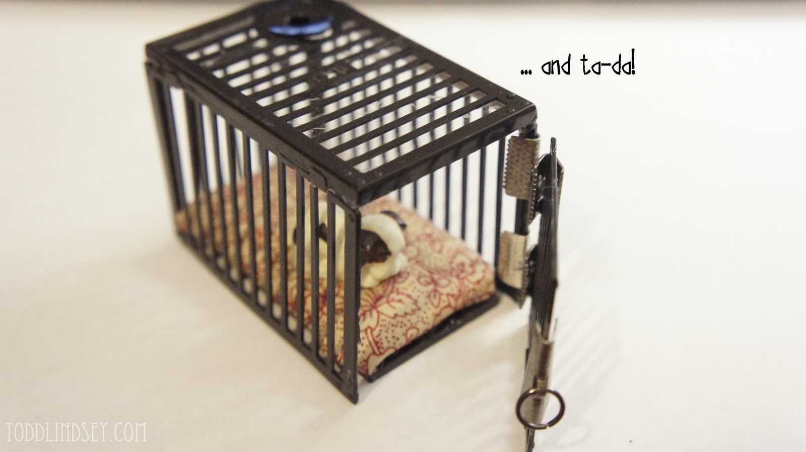 DIY Dog Crate  Domer Home DIY Dollhouse Miniature Dog Crate for $1