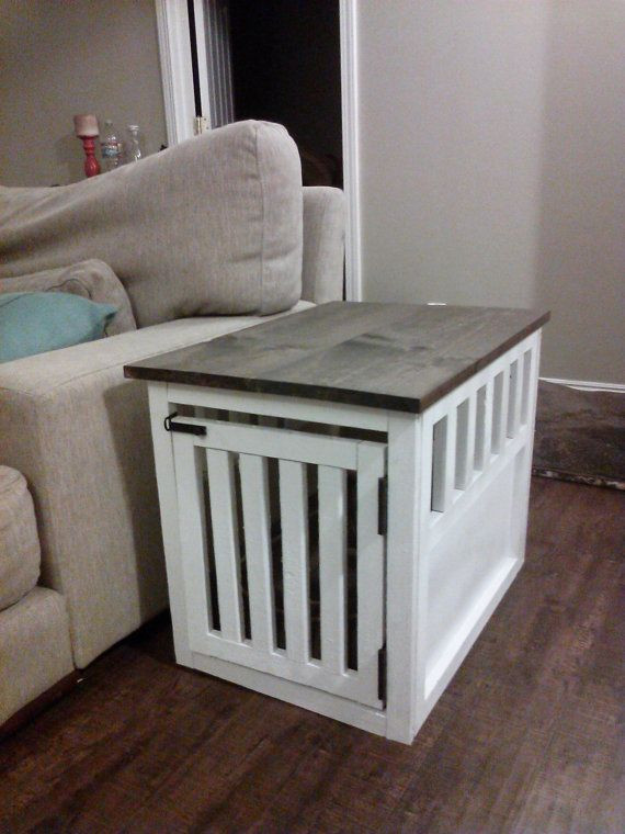 DIY Dog Crate  End Table Dog Kennel Furniture WoodWorking Projects & Plans