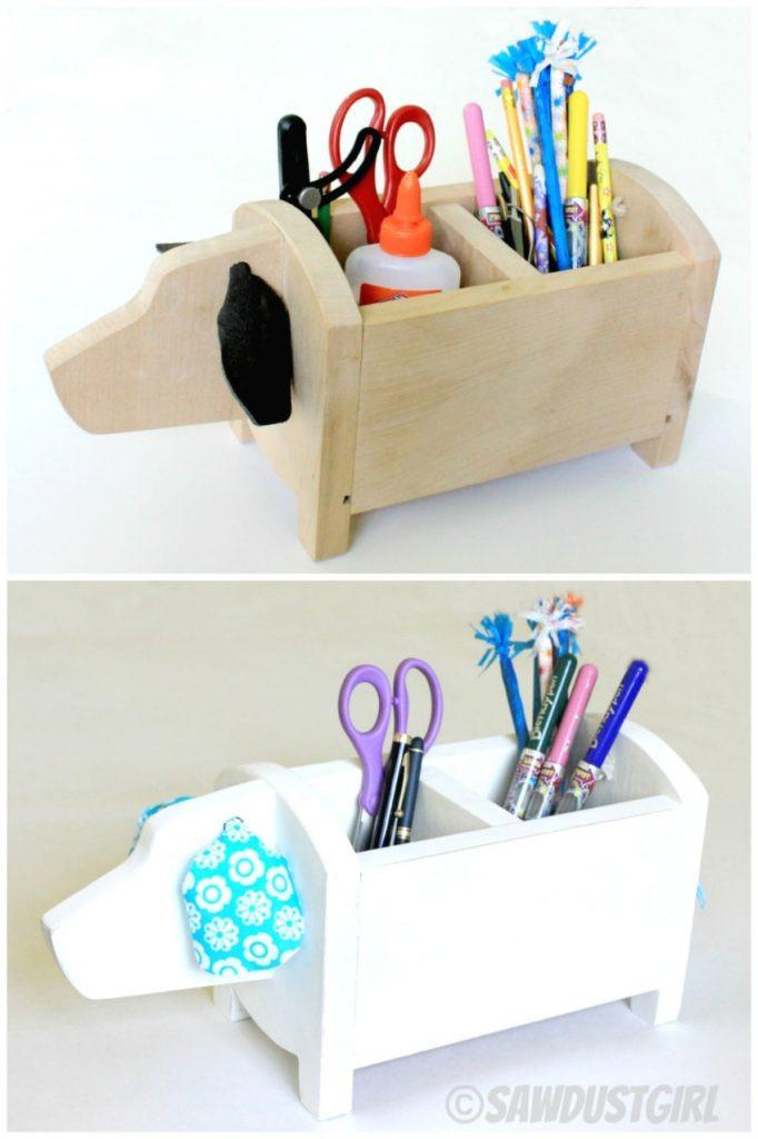 DIY Dog Gifts  DIY Gift Idea $5 Dog Shaped Storage Caddy Sawdust Girl