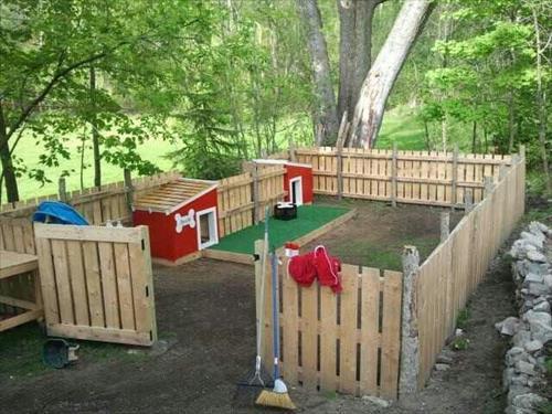 DIY Dog Playground  DIY Pallet Dog Fence Ideas