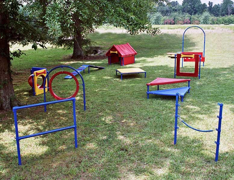 DIY Dog Playground  Dog Parks Korkat Inc Playground Equipment and Site
