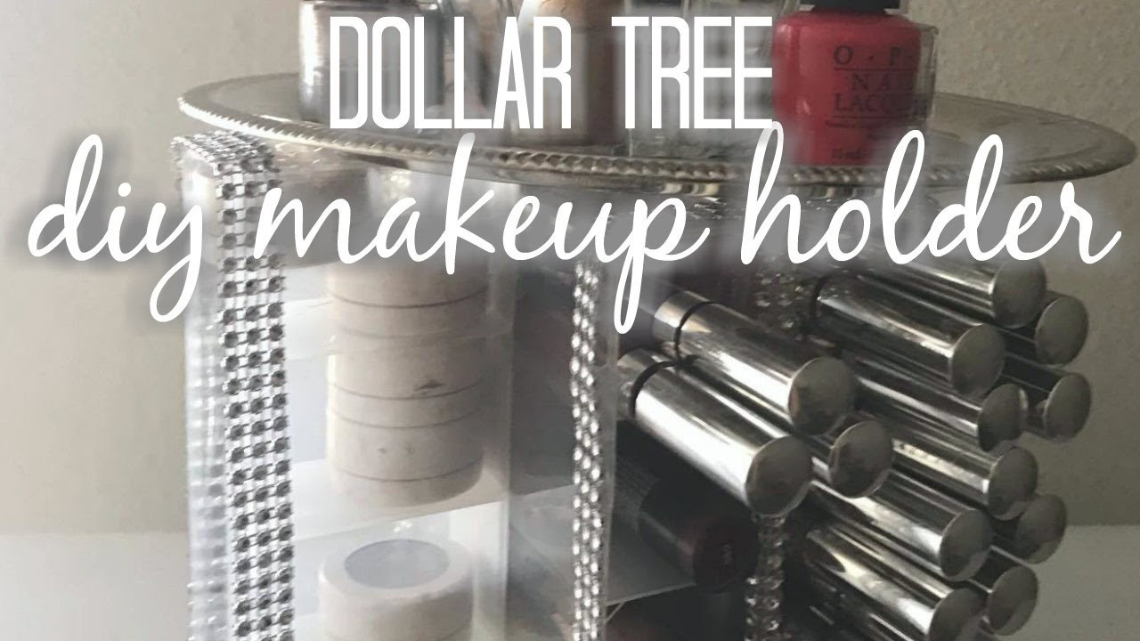 DIY Dollar Tree Makeup Organizer  Dollar Tree DIY spinning Makeup organizer DIY HOME DECOR