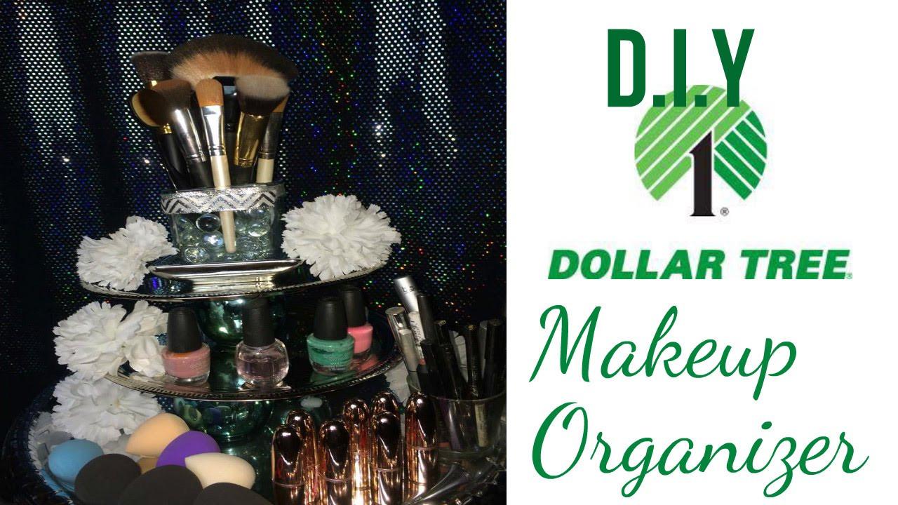DIY Dollar Tree Makeup Organizer  $12 DIY Dollar Tree Makeup Organizer Affordable Vanity