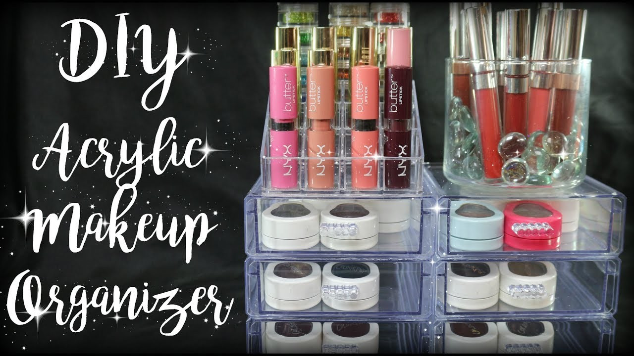 DIY Dollar Tree Makeup Organizer  DIY Dollar Tree Acrylic Makeup Organizer SuperMom