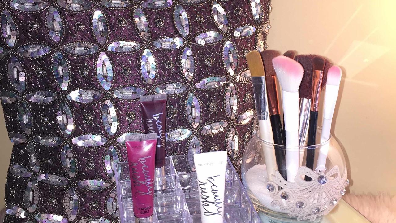 DIY Dollar Tree Makeup Organizer  DIY Glam Mirrored Makeup Organizer
