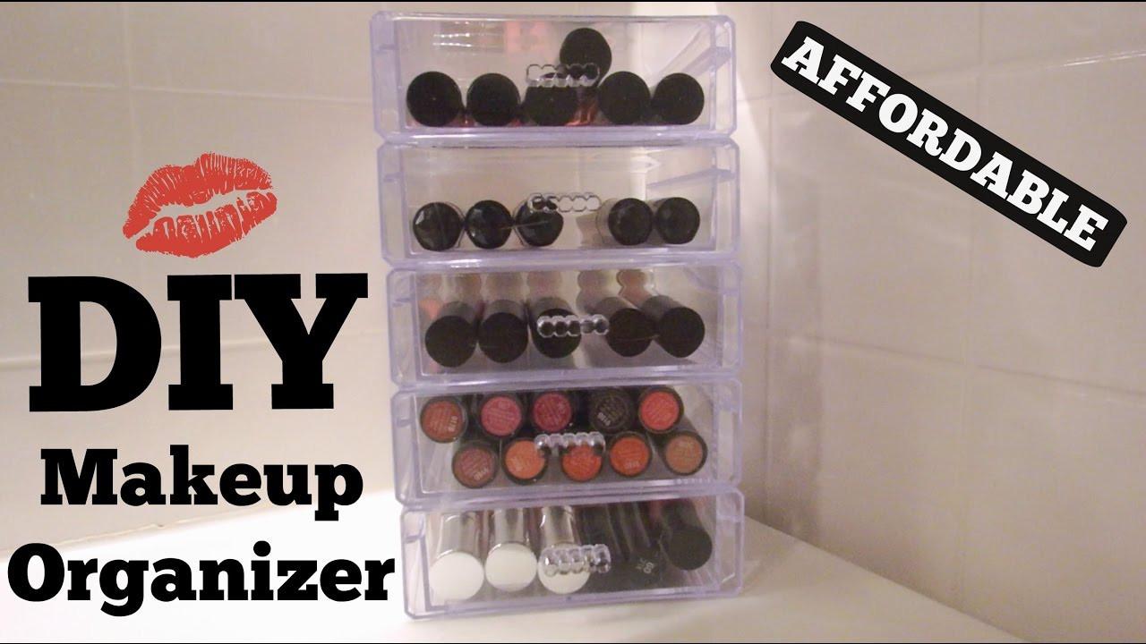 DIY Dollar Tree Makeup Organizer  DIY Acrylic Makeup Organizer