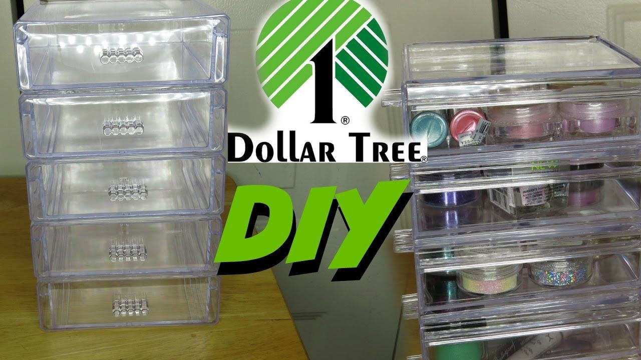 DIY Dollar Tree Makeup Organizer  DIY DOLLAR TREE ACRYLIC DRAWER TIER Organizers 2017