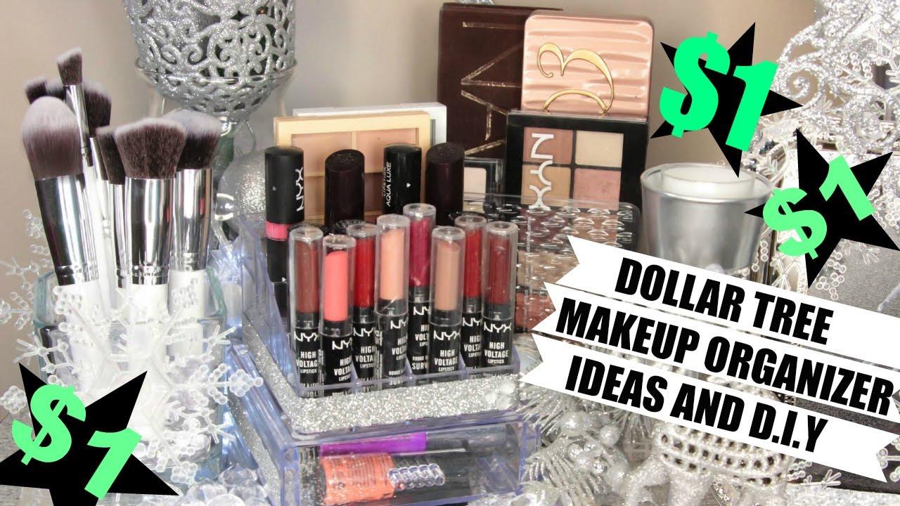 DIY Dollar Tree Makeup Organizer  $1 Makeup Organizers Dollar Tree Ideas and D I Y