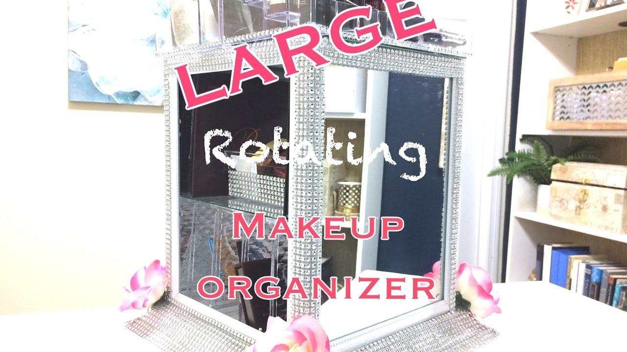 DIY Dollar Tree Makeup Organizer  LARGE GLAM Makeup Organizer Dollar Tree