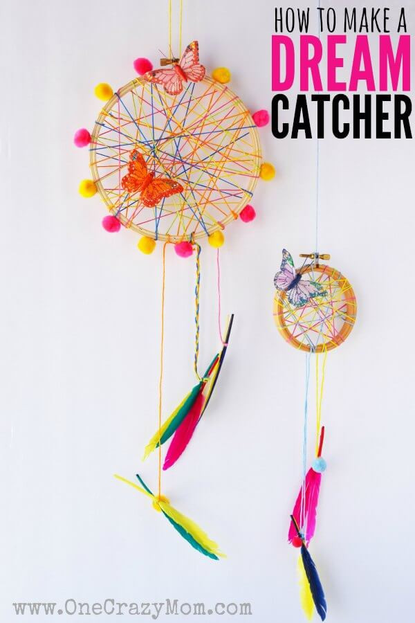 DIY Dream Catchers For Kids  How to Make a DreamCatcher for Kids Fun and Colorful