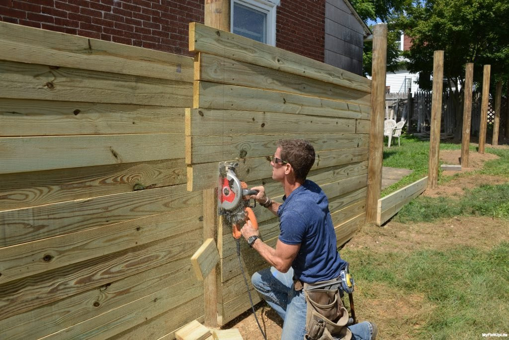 DIY Fence Building  How To Home Improvement Building A Wood Fence