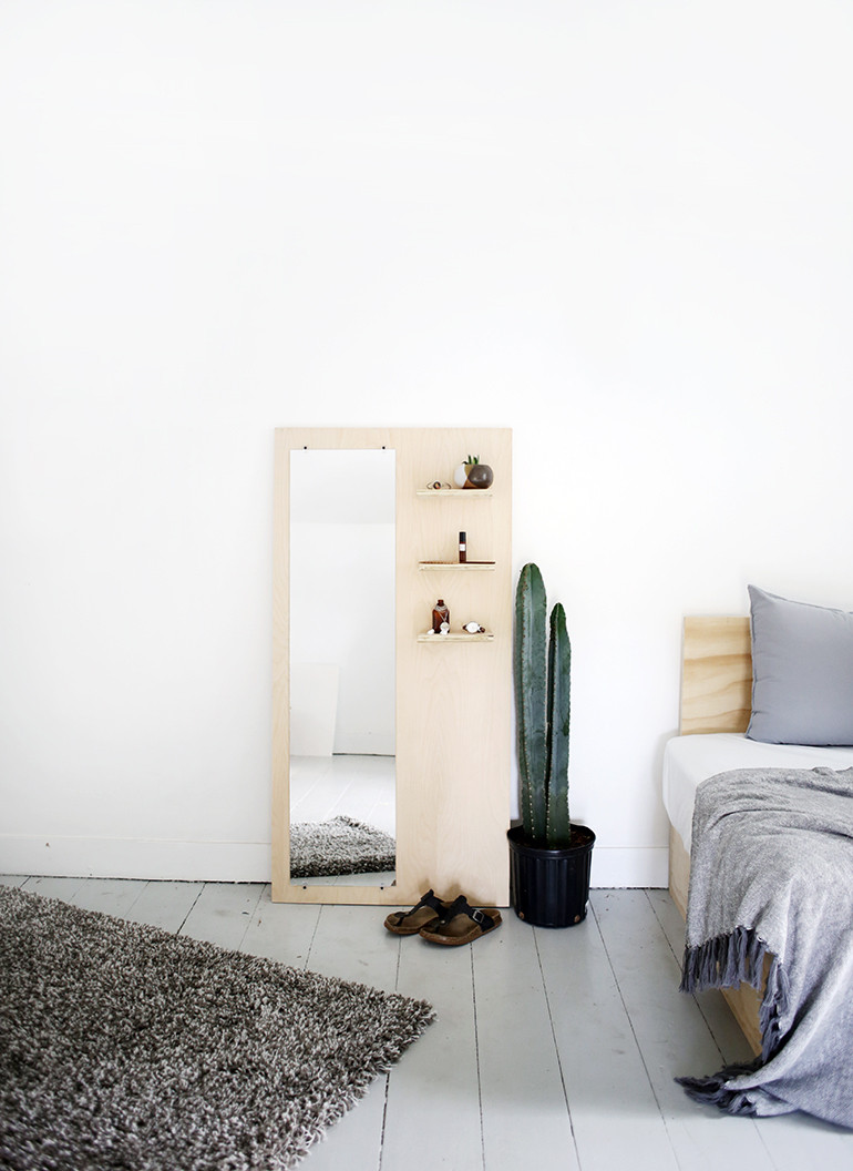 Best ideas about DIY Floor Mirror . Save or Pin DIY Plywood Floor Mirror The Merrythought Now.