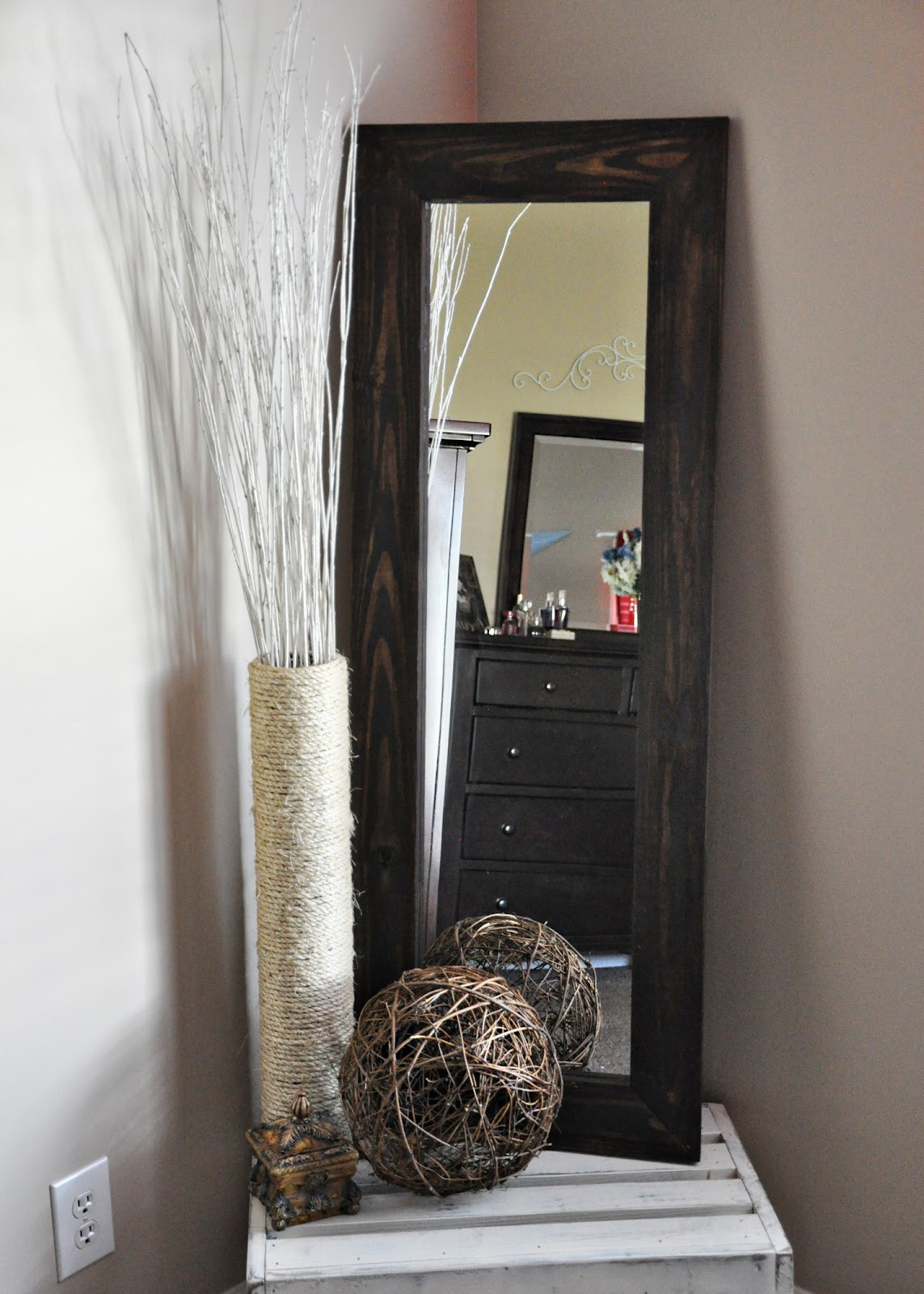 Best ideas about DIY Floor Mirror . Save or Pin me & j the everday DIY Full Length Mirror & Floor Vase Now.