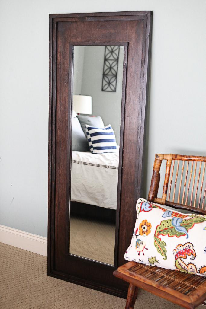 Best ideas about DIY Floor Mirror . Save or Pin Leaning Floor Mirror DIY Bower Power Now.