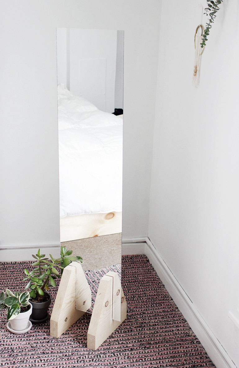 Best ideas about DIY Floor Mirror . Save or Pin DIY Minimal Floor Mirror The Merrythought Now.