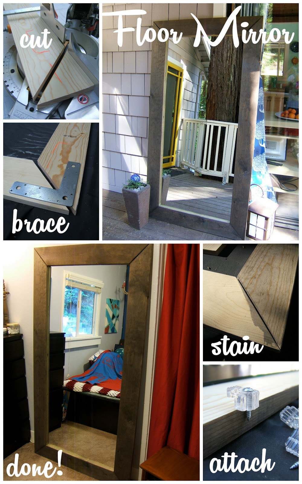 Best ideas about DIY Floor Mirror . Save or Pin Let s this done Now.