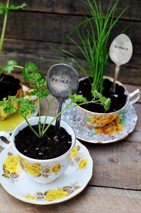 DIY Garden Markers  33 Easy To Make DIY Garden Markers