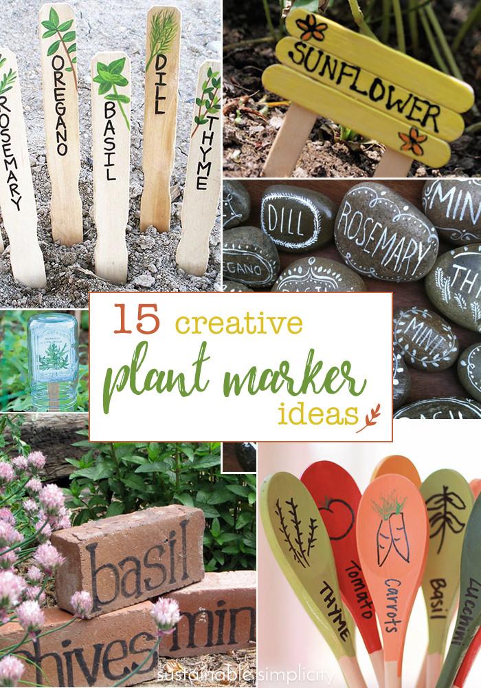 DIY Garden Markers  15 Creative DIY Garden Plant Marker Ideas Sustainable