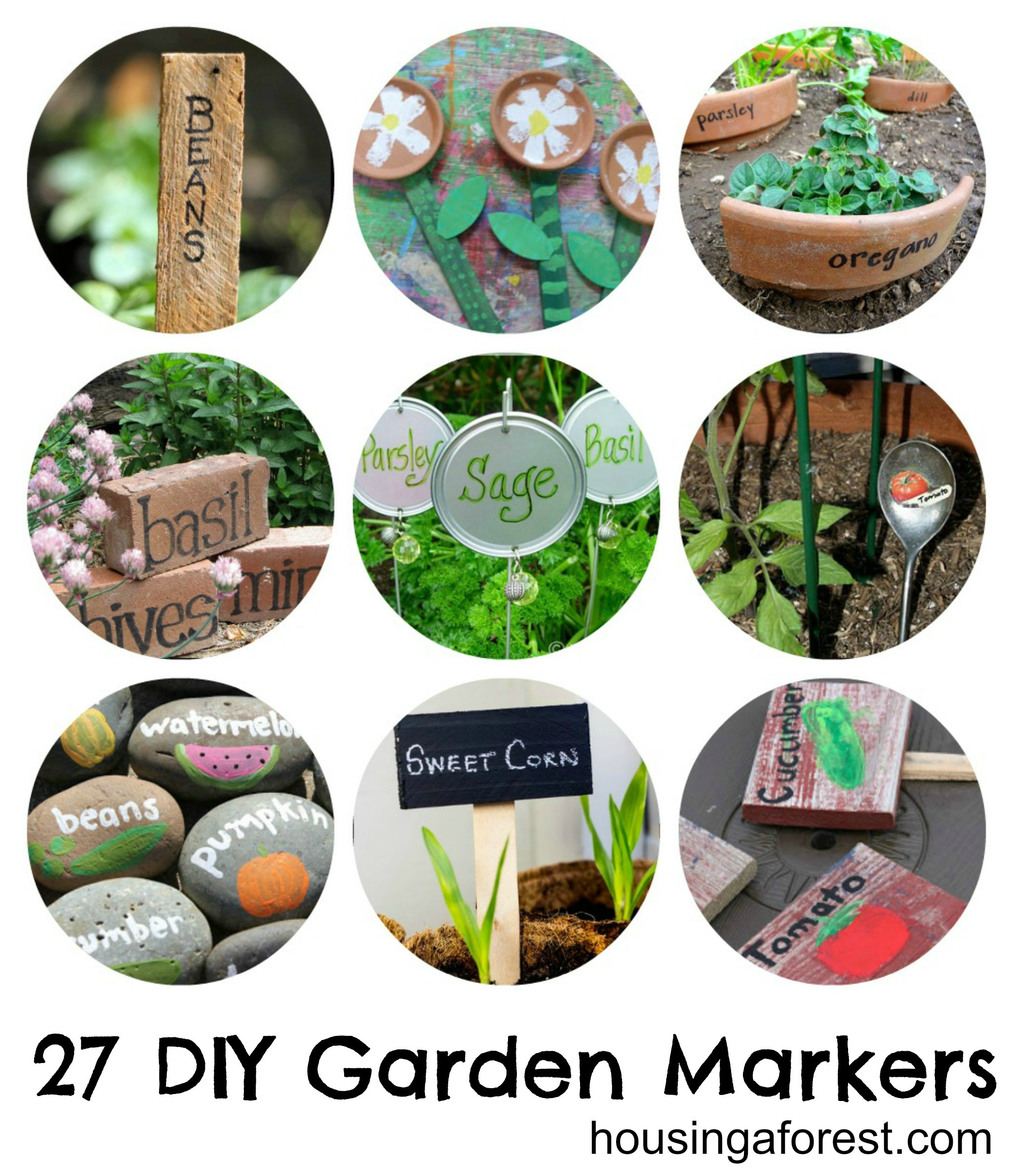 DIY Garden Markers  27 DIY Garden Markers