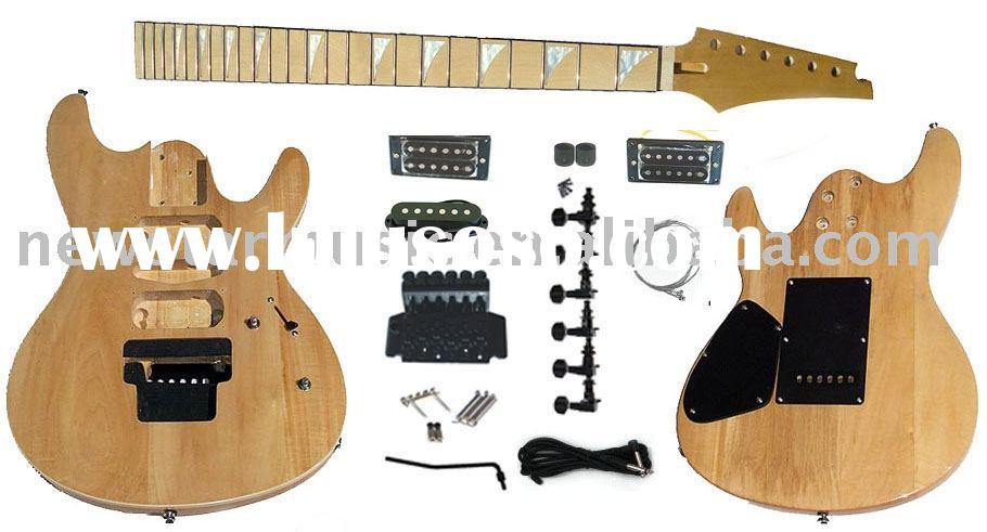 DIY Guitar Kits Suppliers  Kahler Tremolo DIY Electric Guitar Kit GK SBG K13 for sale