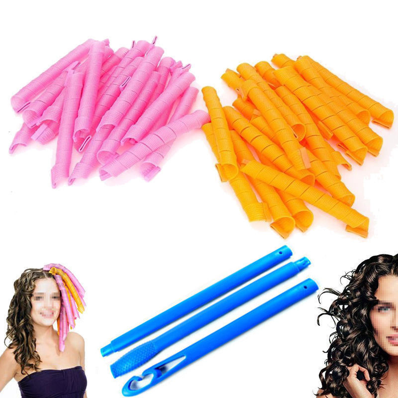 """Best ideas about DIY Hair Curlers . Save or Pin 40 PCS 55CM 22"""" Curl DIY Hair Curlers Tool Spiral Circle Now."""
