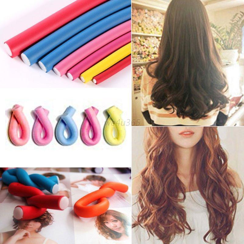 Best ideas about DIY Hair Curlers . Save or Pin Women s 10Pcs Curler Makers Soft Foam Bendy Curls DIY Now.