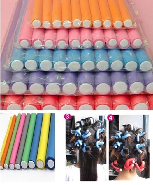 Best ideas about DIY Hair Curlers . Save or Pin 10Pcs Hair Curlers Soft Foam Bendy Curls Tool DIY Styling Now.