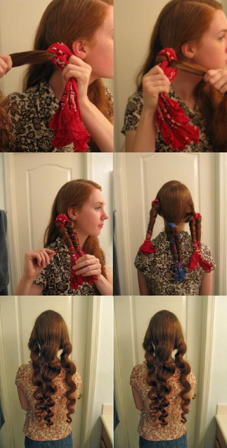 Best ideas about DIY Hair Curlers . Save or Pin 10 DIY No Heat Curls [TUTORIALS] Top Inspired Now.