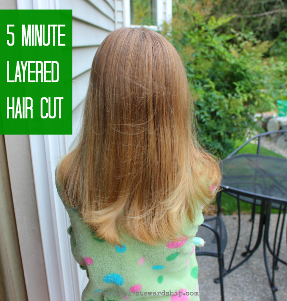 Best ideas about Diy Hair Cut . Save or Pin My Easy DIY 5 Minute Layered Haircut Practical Stewardship Now.