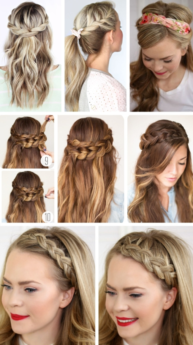 Best ideas about Diy Haircuts For Long Hair . Save or Pin Quick Easy Formal Party Hairstyles For Long Hair DIY Ideas Now.