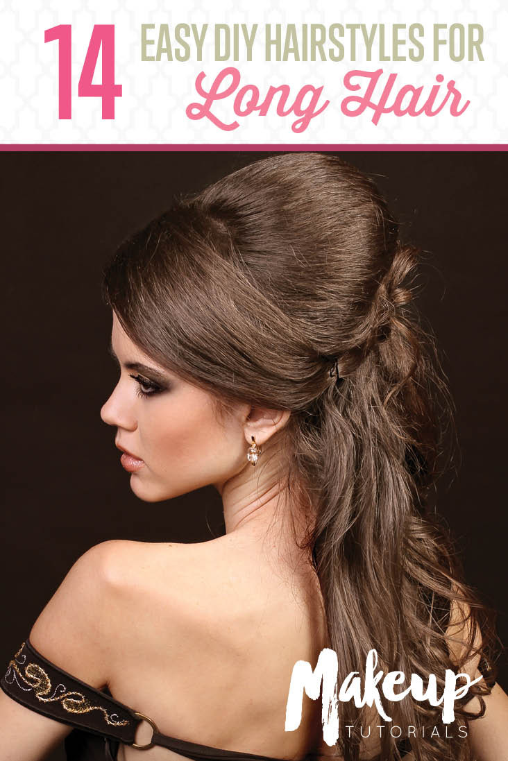 Best ideas about Diy Haircuts For Long Hair . Save or Pin 14 DIY Hairstyles For Long Hair Now.