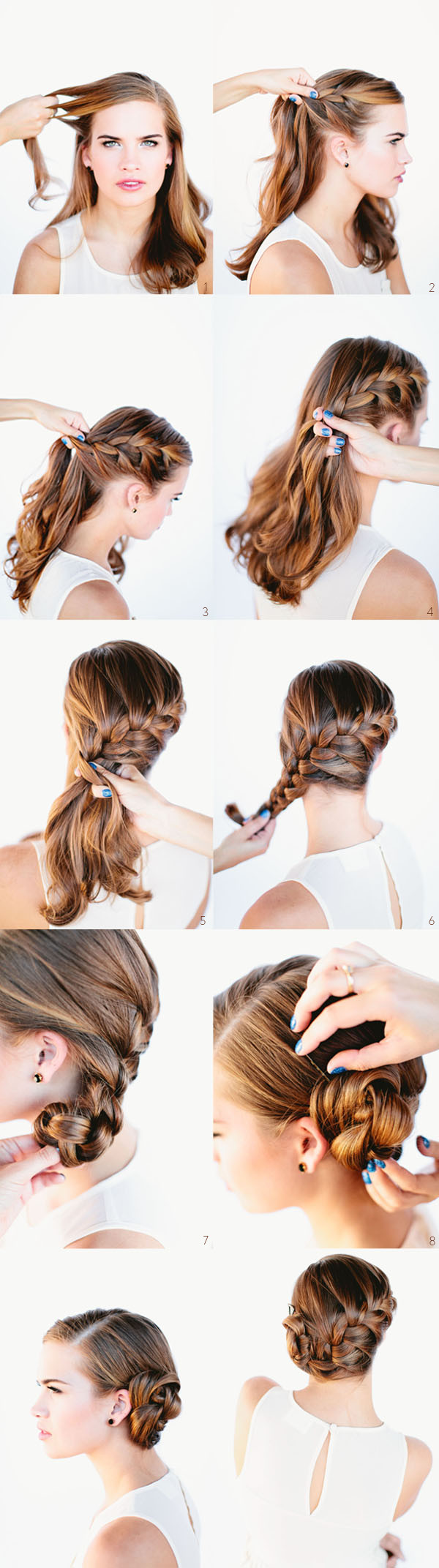 Best ideas about Diy Haircuts For Long Hair . Save or Pin 101 Easy DIY Hairstyles for Medium and Long Hair to snatch Now.