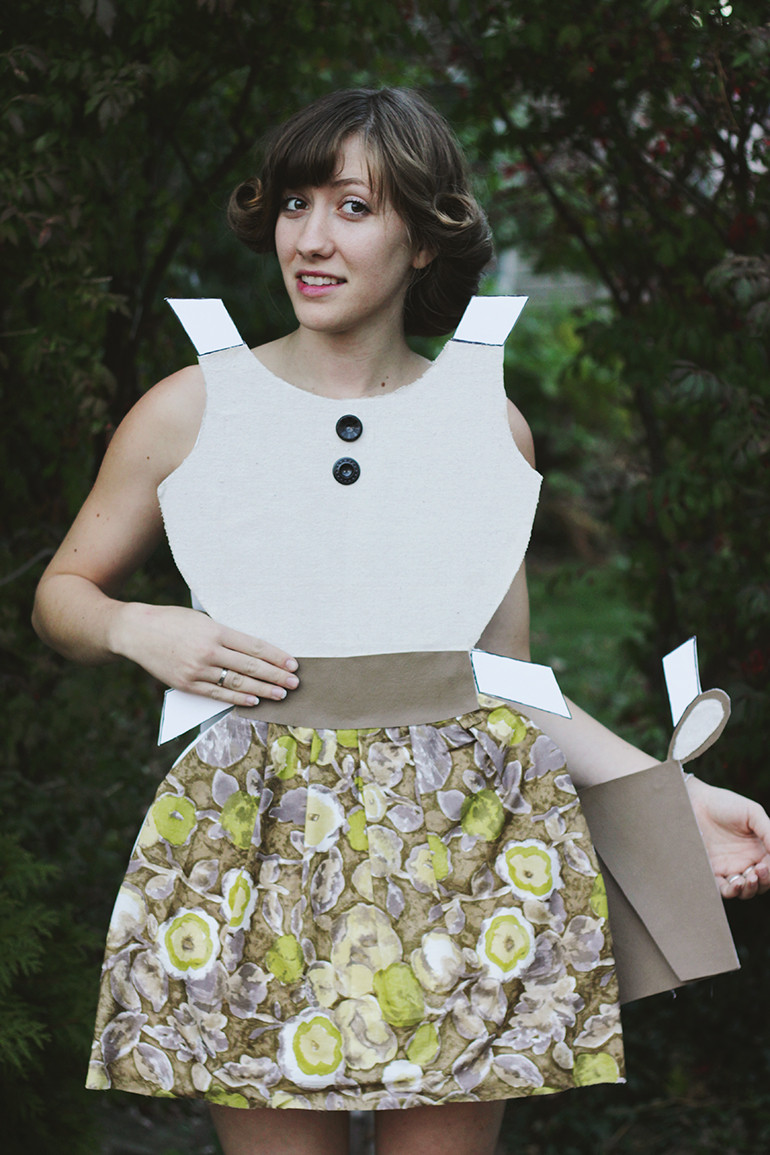 Best ideas about DIY Halloween Costumes For Adults . Save or Pin DIY Paper Doll Costume The Merrythought Now.