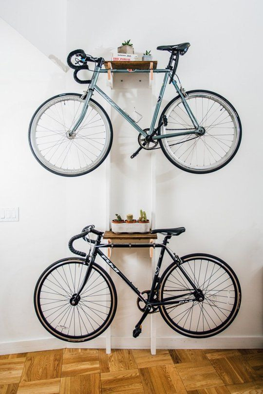 Best ideas about DIY Hanging Bike Rack . Save or Pin DIY Bicycle Rack Built For Two Home Items Now.