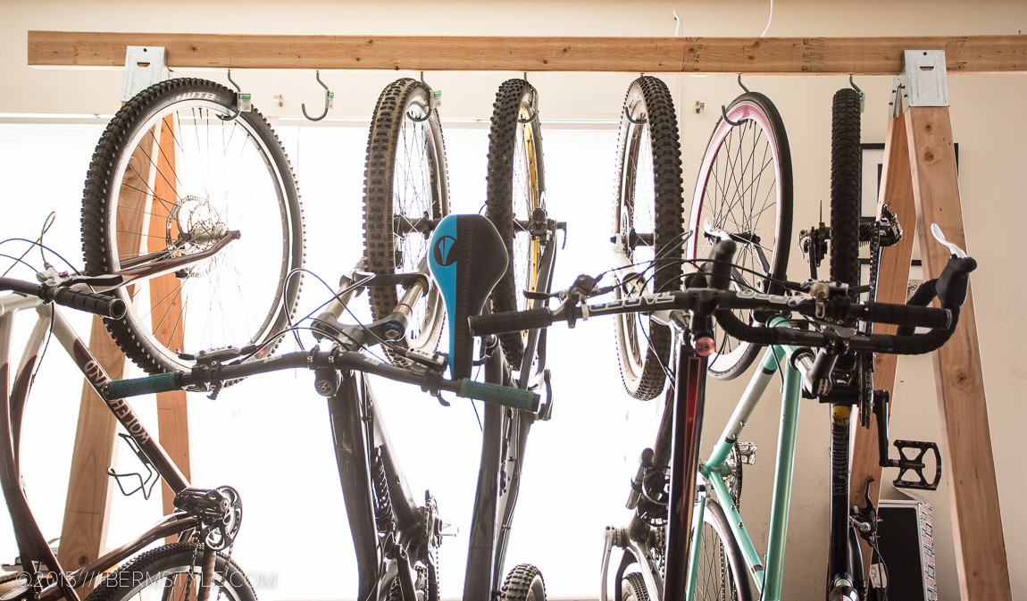 Best ideas about DIY Hanging Bike Rack . Save or Pin DIY Bike Storage Rack Now.
