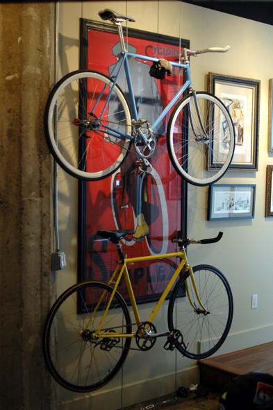 Best ideas about DIY Hanging Bike Rack . Save or Pin Build A Minimal DIY Bike Rack Now.