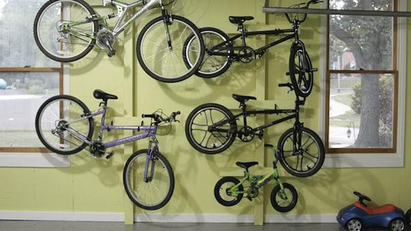 Best ideas about DIY Hanging Bike Rack . Save or Pin DIY Hanging Bike Rack Knock It f Now.